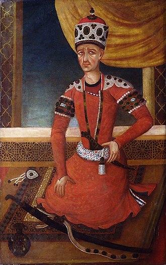 Agha Mohammad Khan Qajar - Portrait of Agha Mohammad Khan Qajar, 1820.