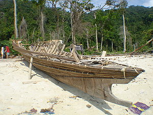Peopling of Thailand - Traditional Moken boat