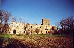 Vela Gutiérrez - Ruins of Santa María de Nogales: the original foundation was a Benedictine convent established by Vela in 1150, but it went defunct by 1164, when it was refounded as a Cistercian monastery.