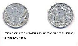Moneta FRANCIA 1943