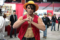 Monkey D. Luffy cosplayer (23570810656).jpg