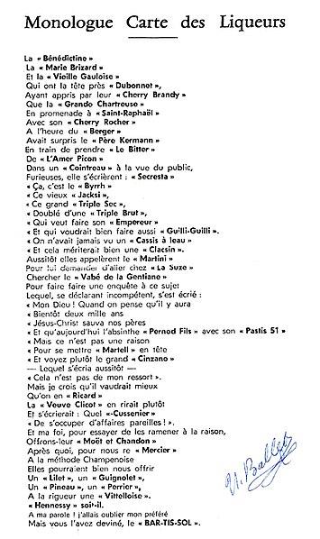 """Résultat de recherche d'images pour """"monologue carte des liqueurs ballet ulysse ballet"""""""
