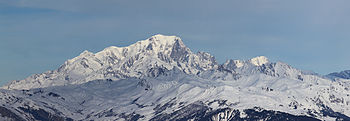South side of the Mont Blanc, seen from Valmor...