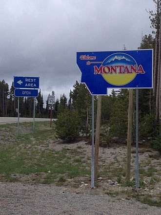 U.S. Route 93 - Montana State Line, US 93 at Lost Trail Pass