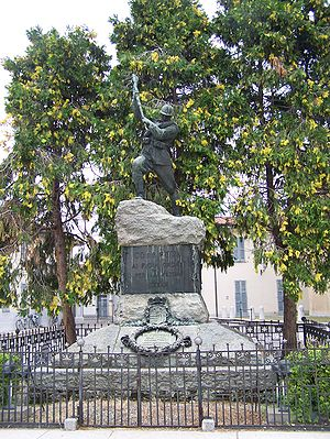Corbetta, Lombardy - Monument to victims of World War I.