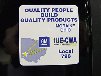 Moraine Assembly - Sticker found on all vehicles assembled at the plant