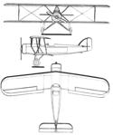 Morane Saulnier MS.140 3-view Les Ailes February 2, 1928.png