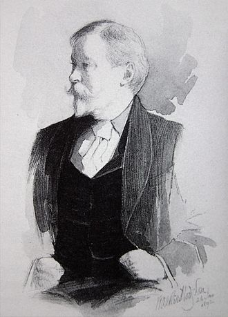 Mortimer Menpes - Mortimer Menpes in a wash by William Walker Hodgson dated 26 January 1892