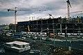 Moscow, construction of Baltiyskaya MCC station and Metropolis mall (16594498910).jpg