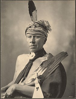 Mosteose (Holy Rabbit), Iowa.Photographié par Frank Rinehart en 1898.