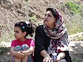 Mother and Daughter at Roadside - Alamut Valley - Northwestern Iran (7417944662).jpg