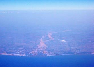 Palar River - The mouth of the Palar river, seen from the air