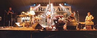 Moving Hearts - Moving Hearts on stage at the Leeds Folk Festival, 1983