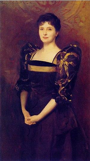 Sir George Lewis, 1st Baronet - Mrs George Lewis (nee Elizabeth Eberstadt), John Singer Sargent, 1892