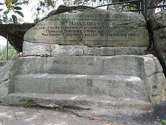 Mrs Macquarie's Chair - Image: Mrs Macquarie's Chair 2013