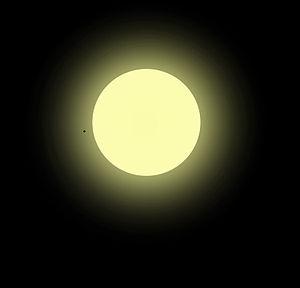 Stellar population - A rendering of Mu Arae, a metal-rich population I star.
