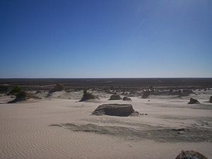 Mungo National Park - Mungo Lunette, looking south towards Mildura, 2007.