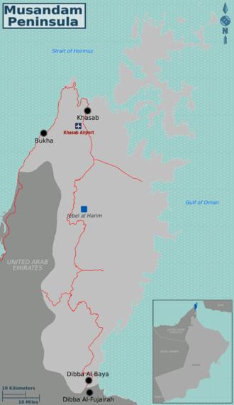 map of musandam