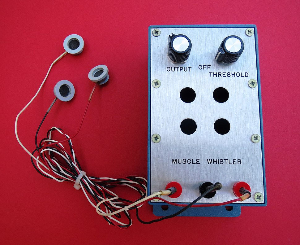 Muscle Whistler with EMG surface electrodes (1971)