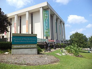 State Library and Archives of Florida - The R.A. Gray Building, which also houses the Museum of Florida History and the Florida Department of State