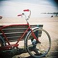 My red bike at the beach - Flickr - spDuchamp.jpg