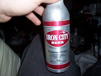 Iron City Brewing Company - Distinctive Iron City space-bottle.