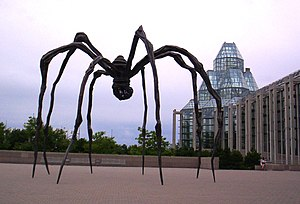 National Gallery of Canada - Louise Bourgeois' Maman (1999) stands outside the National Gallery of Canada's main entrance