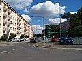 Na hroudě, od ulice U hráze, čerpací stanice PRIM.jpg