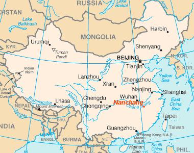 Nanchang location