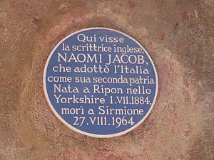 Naomi Jacob - Naomi Jacob blue plaque