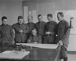 Naval Aviation Board preparing for NC Trans-Atlantic Flight, 1919.jpg