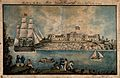 Naval Hospital, Malta; with sailors dancing on the shore. Co Wellcome V0013896.jpg