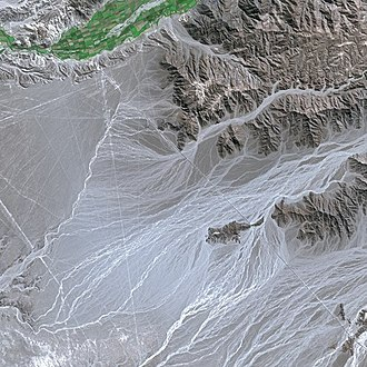 Nazca Lines - Nazca Lines seen from SPOT Satellite