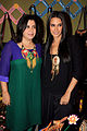 Neha Dhupia and Farah Khan at the opening of Fluke store 03.jpg