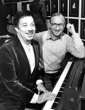 Cy Coleman - Cy Coleman with playwright Neil Simon (right) during a rehearsal in 1982