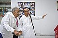Nemai Ghosh Accompanied By Biswatosh Sengupta Visiting 1st Four Ps Group Exhibition - Kolkata 2019-04-17 5249.JPG