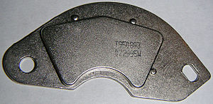 Neodymium - Neodymium magnet on a mu-metal bracket from a hard drive