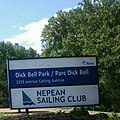 Nepean Sailing Club Dick Bell Park Sign.jpg
