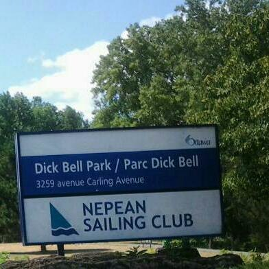 Nepean Sailing Club Dick Bell Park Sign
