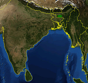 Nepenthes khasiana - Image: Nepenthes khasiana distribution