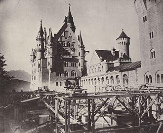 Kaiserbrief - Neuschwanstein as a building site, 1886