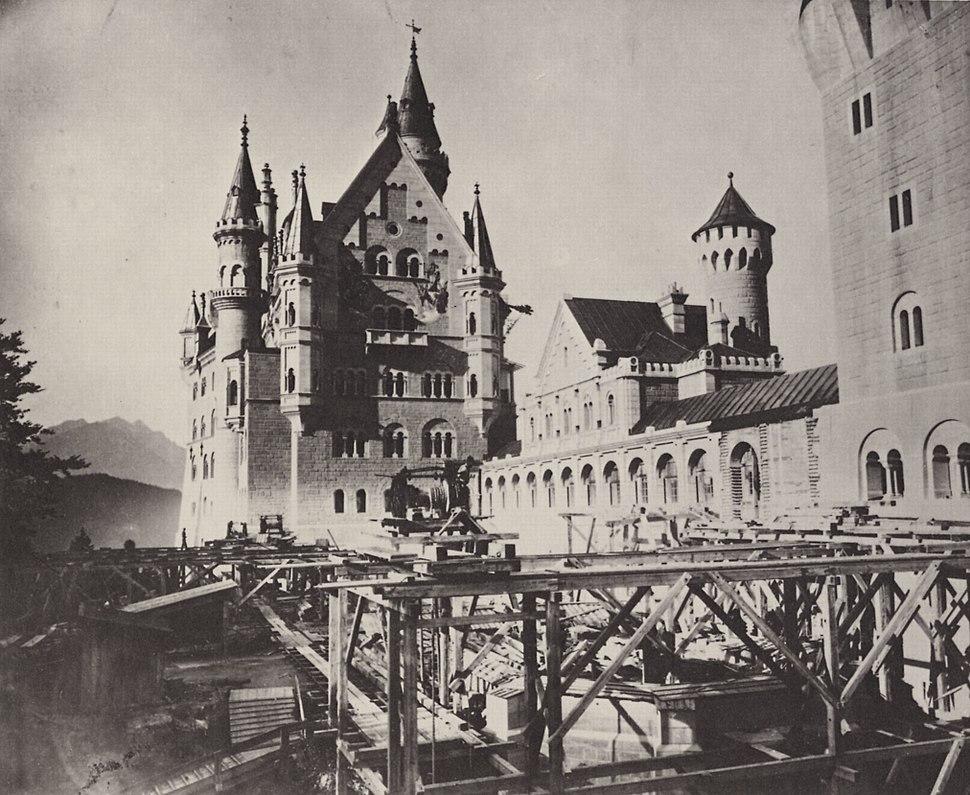 Neuschwanstein - Blick in den oberen Schlosshof