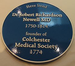 Photo of Robert Richardson Newell blue plaque