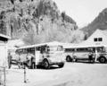 Newhalem, WA - Greyhound Buses at Gorge Inn, 1952.tif