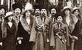 Nicholas II and children with Cossacks of the Guard, cropped.jpg