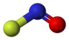 Ball and stick model of nitrosyl florua