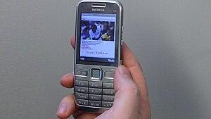 Nokia E52 mobile phone.