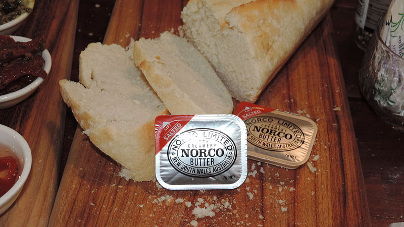 File:Norco Butter with bread, Jersey Girls Cafe, Thulimbah, Queensland, 2015 02.JPG