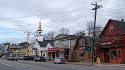 Buildings in downtown North Conway