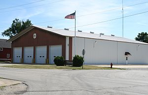 Mansfield, Illinois - Northern Piatt County Fire Protection District Fire Station in Mansfield